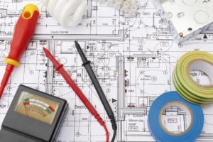 Electrical Components Arranged On House Plans