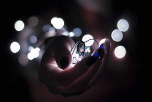 led lights on hands